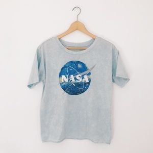 Fifth Sun | Picasso Printed NASA Graphic Crop Tee